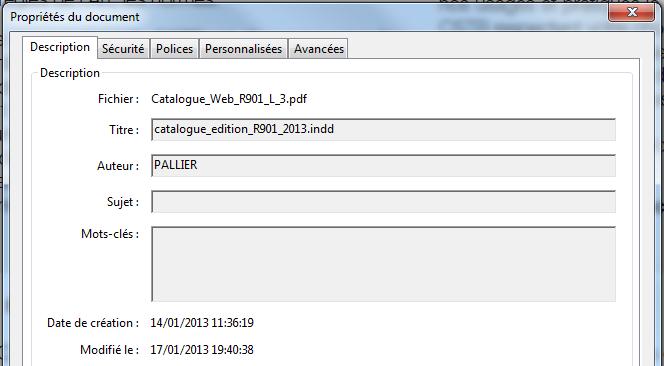 Optimisation SEO des métadonnées d 'un PDF