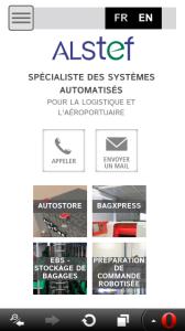 Site Alstef - BtoB en responsive design