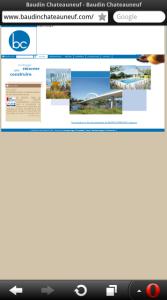 site BtoB version desktop