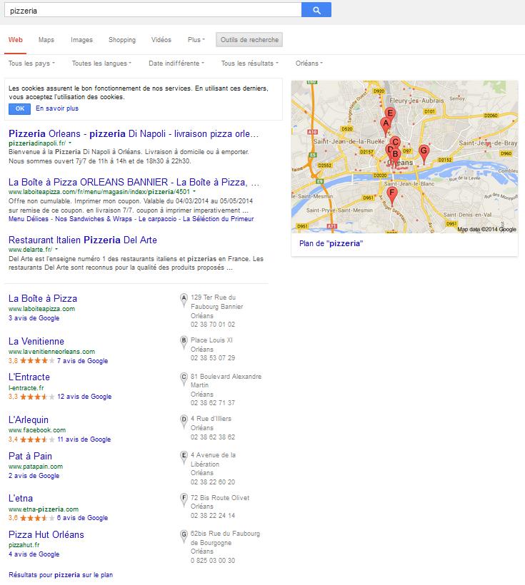 géolocalisation automatique de la requête par l'adresse IP