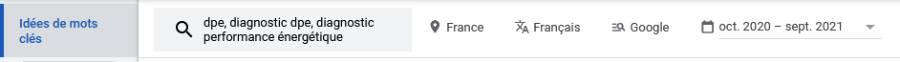 Les réglages de pays et langue dans Google Keyword Planner